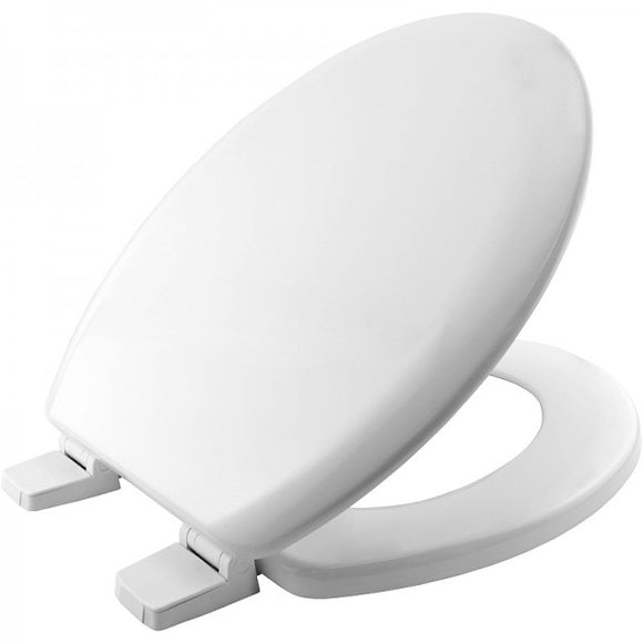 Bemis White Wood Moulded Toilet Seat & Cover
