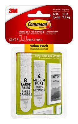 Command™ Medium and Large Picture Hanging Strips Value Pack - Sheahan's Homevalue Nenagh