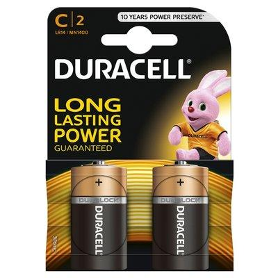 Duracell Plus Power C Batteries (Twin Pack)