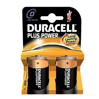 Duracell Plus Power D Batteries (Twin Pack)