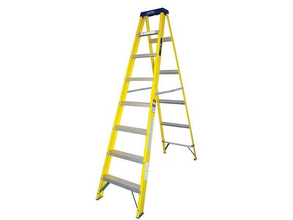 8 Step Single-Sided Fibreglass Step Ladder - Sheahan's Homevalue Hardware