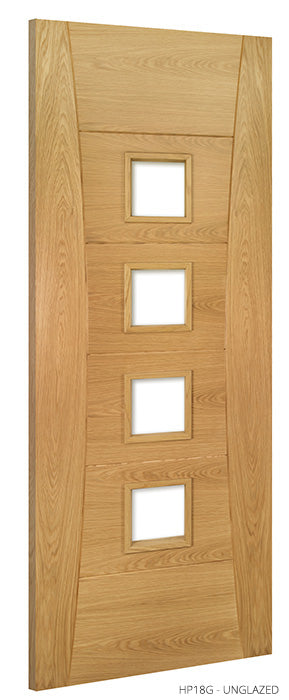 HP18 Unglazed Oak Door
