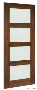 HP1G Clear Glass Walnut Door