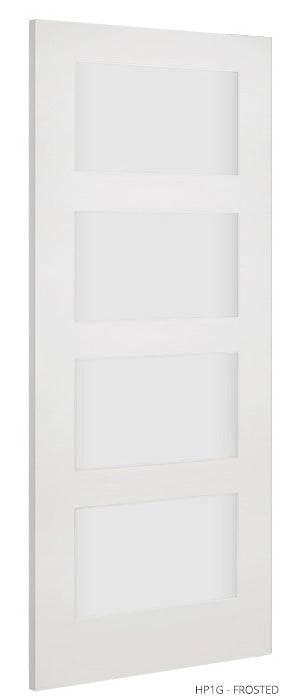 HP1G Frosted Glass White Primed Door