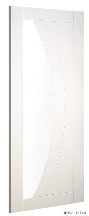 HP35G Clear Glass White Primed Door
