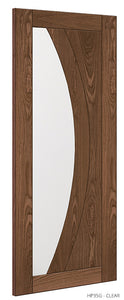 HP35G Clear Glass Walnut Door