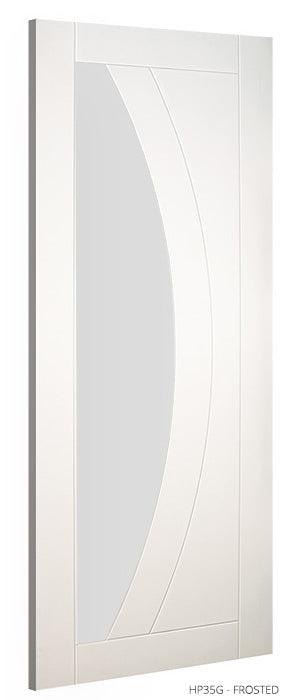 HP35G Frosted Glass White Primed Door