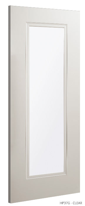 HP37G Clear glass White Primed Door