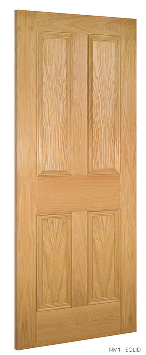 NM1 Solid Oak Door