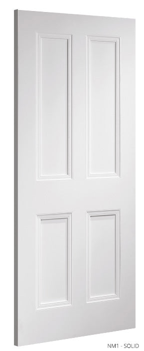 NM1 Solid White Primed Door