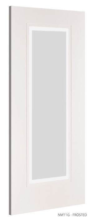 NM11G Frosted Glass White Primed Door