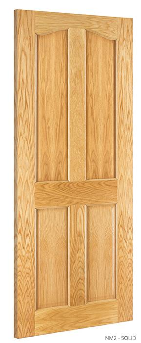NM2 Solid Oak Door