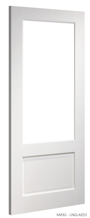 NM3G Unglazed White Primed Door