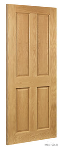 NM4 Solid Oak Door