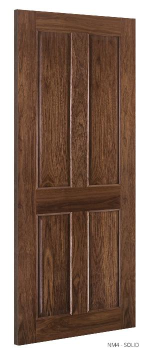 NM4 Solid Walnut Door