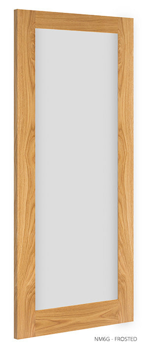 NM6G Frosted Glass Oak Door