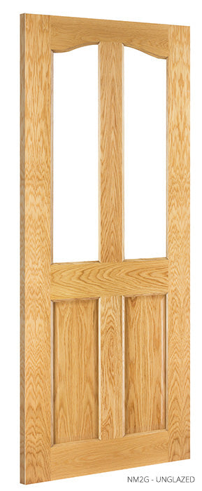 NM2G Unglazed Oak Door