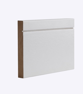 MDF White Primed Shaker Skirting 144mm