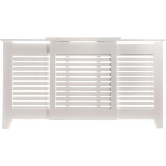 Contemporary Radiator Cover Medium White