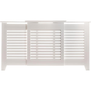 Contemporary Radiator Cover Large White