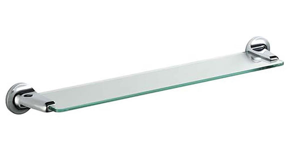 TEMA ARNO GLASS SHELF CHROME - Sheahan's Homevalue Hardware
