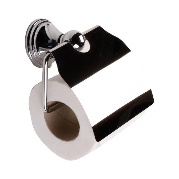 TEMA ARNO TOILET ROLL HOLDER WITH LID CHROME - Sheahan's Homevalue Hardware