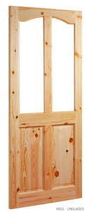 VR2G Unglazed Solid Red Deal Door