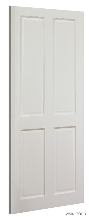 WM4 Solid White Primed Door