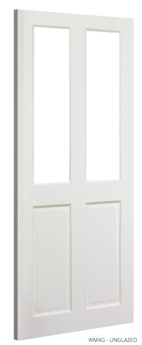 WM4G Unglazed White Primed Door