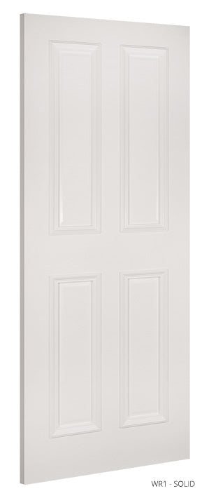 WR1 Solid White Primed Door