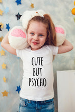 Load image into Gallery viewer, Cute But Psycho Kids Shirts Kids Tshirt Toddler