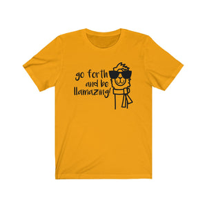 Be Llamazing - Funny Shirt - Unisex Jersey Short Sleeve Tee