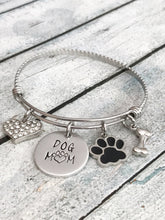 Load image into Gallery viewer, Dog mom - Hand stamped bracelet - Dog mom jewelry