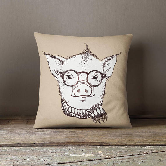 Pig Decorative Pillow Case Kids Room Decor