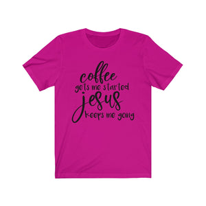 Jesus Coffee Shirt Unisex Jersey Short Sleeve Tee