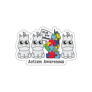 Autism awareness - Its ok to be different - Kiss-Cut Stickers