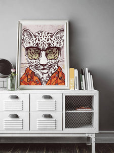 Leopard Poster Gift For Kids Room Poster Hipster