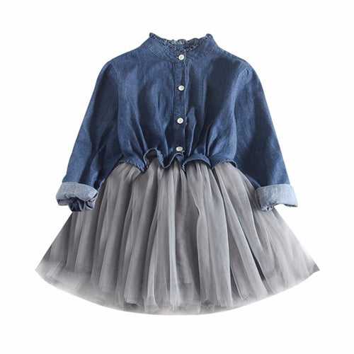 Best sale Toddler Baby Girls dress Denim mini