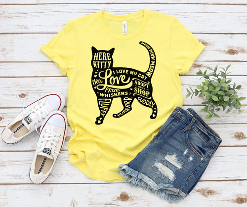 Cat Lover, Cat Mom Gift, Cat Mom Shirt, Unisex Jersey Short Sleeve Tee