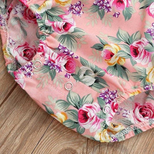 Floral Bodysuit Sunsuit2018 Newborn Baby Girls