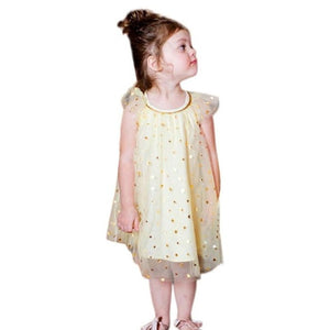 Infant Girls Sequined dress Star Print Bling Net