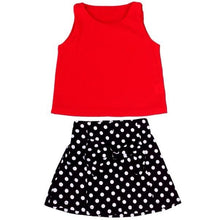 Load image into Gallery viewer, Lovely Little Girls Dress Vest Pleated Dress Two