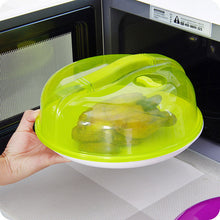 Load image into Gallery viewer, Microwave Food Cover Plate Vented Splatter