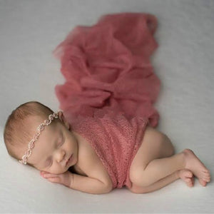 Newborn Baby Girl Boy Hollow Wraps Blanket Posing