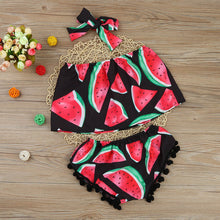 Load image into Gallery viewer, Summer baby girl child watermelon word shoulder