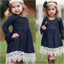 Load image into Gallery viewer, Toddler Infant Baby Girls Denim Flare Sleeve Dress