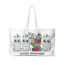 Load image into Gallery viewer, Autism Awareness - It's ok to be different - Weekender Bag - tote