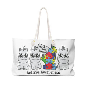 Autism Awareness - It's ok to be different - Weekender Bag - tote