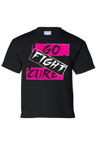 Kids Tee Go Fight Cure Breast Cancer Short Sleeve