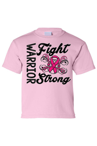 Kids Tee Warriors Fight Strong Short Sleeve